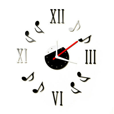 Mirror Wall Clock Stickers DIY Mirror Effect Acrylic Glass Decals Removable A6I6