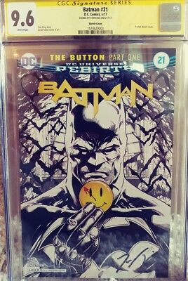 Batman #21 Sketch Cover 9.6 CGC SS Signed by Tom King