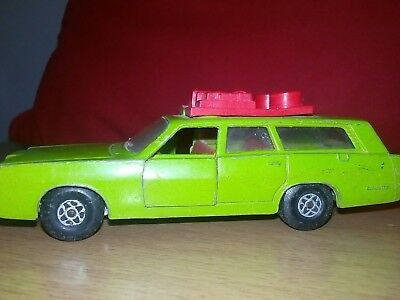 Matchbox Speed Kings station wagon plus boat trailer ,1970 issue .