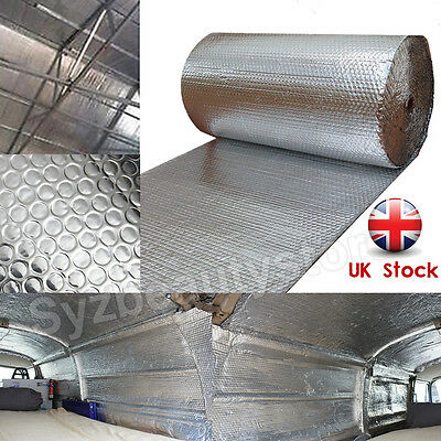 Camper Van insulation Double Bubble Foil Aluminum Insulation Wall Roof 1.2x5m