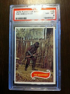 1975 Topps Planet Of The Apes Card #45 The Discovery Psa Graded Nm-Mt 8