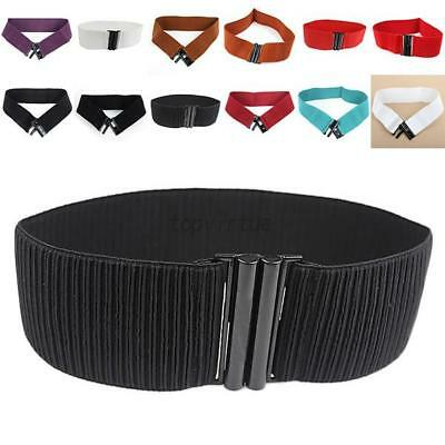 Fashion Women Lady Girls Wide Elastic Stretch Cinch Waistband Waist Belt Acessry