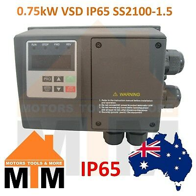 Single Phase 0.75kW VSD Variable Speed Frequency Drive IP65 Water resistant