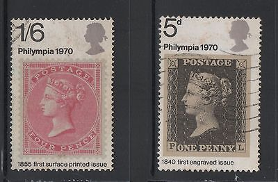 UNITED KINGDOM UK USED STAMPS PHILYMPIA 1970      a13.7.8