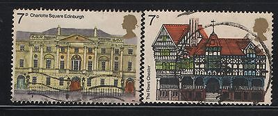 UNITED KINGDOM UK USED STAMPS CHARLOTTE SQUARE THE ROWS CHESTER      a13.8.7