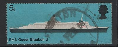 UNITED KINGDOM UK USED STAMPS RMS QUEEN ELIZABETH 2 SHIP  a13.7.3