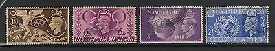 UNITED KINGDOM UK USED STAMPS OLYMPIC GAMES 1948        a13.3.2
