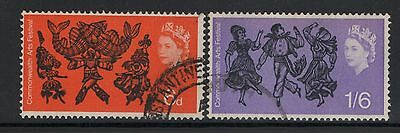 UNITED KINGDOM UK USED STAMPS COMMONWEALTH ARTS FESTIVAL    a13.5.6