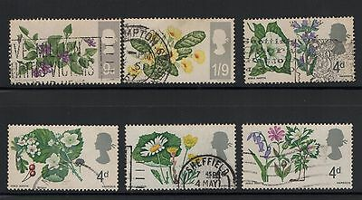 UNITED KINGDOM UK USED STAMPS FLOWERS   a13.4.5