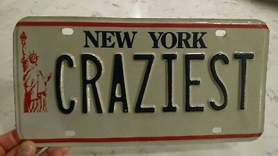 license plate new york vanity statue of liberty craziest