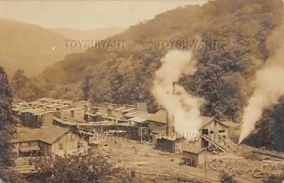 Early 1909 Rppc Photo Postcard Saw Mill Point West Virginia Logging Log Timber