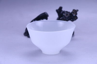 100% natural Exquisite hand carving  white bowl  X167