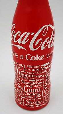 """*FULL! 2013 Benelux Share a Coke with """"Names"""" Aluminum Coca Cola Bottle"""