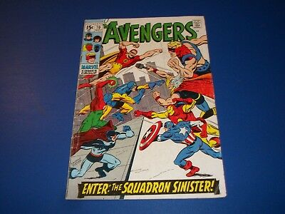 Avengers #70 Silver Age Squadron Sinister Wow