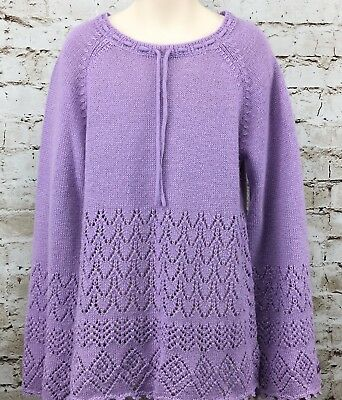 Naartjie Sweater XXXL 9 Years Pullover Lilac Purple Lace Light Soft