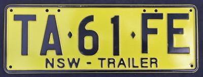 New South Wales - NSW - Australia TRAILER License / Number Plate NEW STYLE