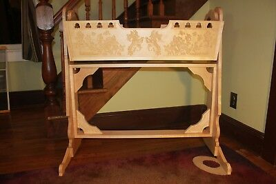 Wood Wooden Hanging Swinging Cradle Baby Bed Crib