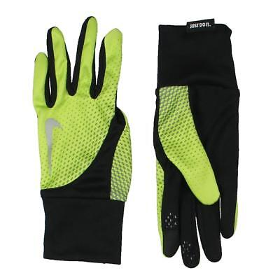 Nike 5082 Mens Tailwind Black Dri-Fit Conductive Touch Athletic Gloves L BHFO