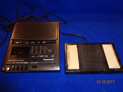 Panasonic RR-930 Micro Cassette Dictation Machine with Pedal & Instructions