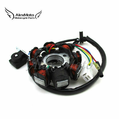 8 Coil Pole AC Ignition Stator Magneto For GY6 50cc Moped Scooter Go Kart ATV