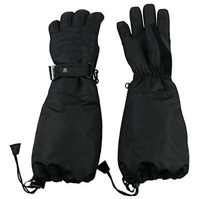 N'Ice Caps 6878 Boys Black Waterproof Thinsulate Winter Gloves S/M Toddler BHFO