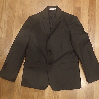 Izod Boy Suit Jacket Blazer SIze 10 Husky Charcoal Grey Preppy Cute Adorable !!!