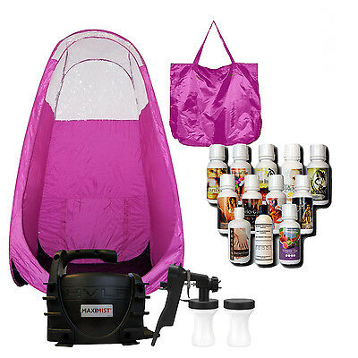 MAXIMIST XLSE CLASSIC SPRAY TAN UNIT w,TBT TAN SPRAY & PINK TENT