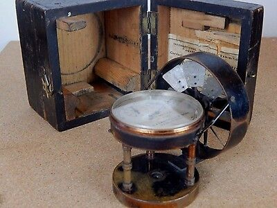 Victorian Anemometer J Casartelli& son Manchester cased Air meter with propeller