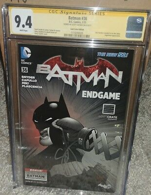 Batman #36 Loot Crate Edition CGC SS 9.4 signed by Scott Snyder