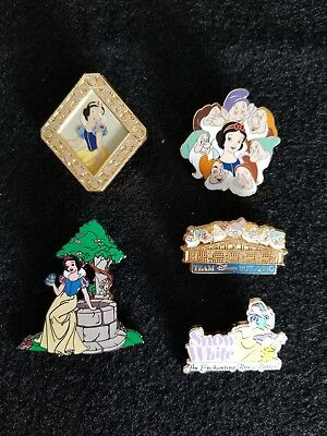 Disney Princess Snow White and the Seven Dwarfs Pin Lot of 5 Pins