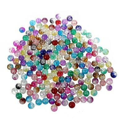 8 mm Ball Crystal Beads Loose Colored X200 PK F2Q5
