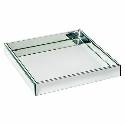 Display Serving Tray Mirrored w Bevelled Edging Hamptons Style Decor