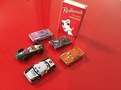 Vintage Japaneses Tin Toy Cars LOT Mini Micro Excellent Condition