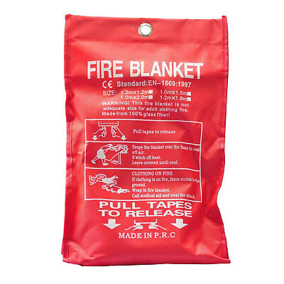 Bn Sealed Home Safety Fire Blanket Protection 1m X 1m PK I2M7