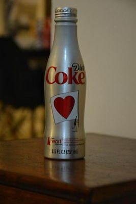"Aluminium Coca Cola Bottle Heart Truth "" Capture the Flag"" 2011 USA (small dent)"