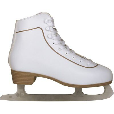 Nijdam Women Figure Skates Ice Skating Boots Classic Leather Size 36 0043-WIT-36