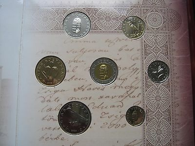 Hungary 2003 UNC 8 coin set 1 - 100 Forints official sealed folder