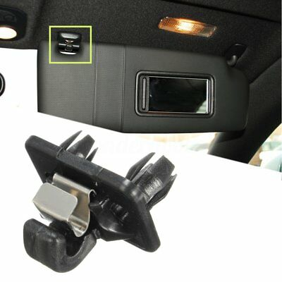 Black Sun Visor Clip Holder Hook Bracket For Audi A1 A3 A4 Q3 Q5 # 8U0857562A Uk
