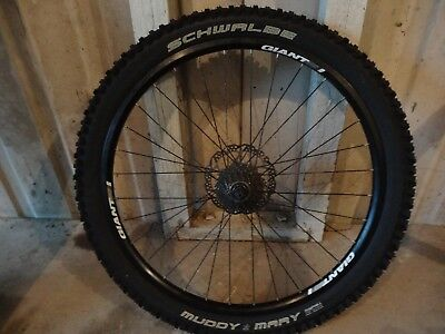Giant 26 Inch Mountain Bike Alloy Wheel with 26 x 2.35 Schwalbe Muddy Mary Tyre