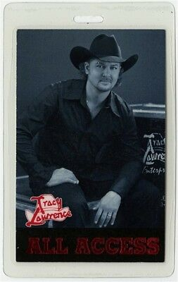 Tracy Lawrence authentic concert tour Laminated Backstage Pass ALL ACCESS rare
