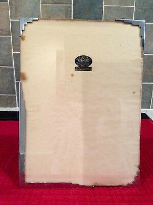 Art Deco Chromium Foframe photograph frame. 11inx8in. Stamped. Good Condition.