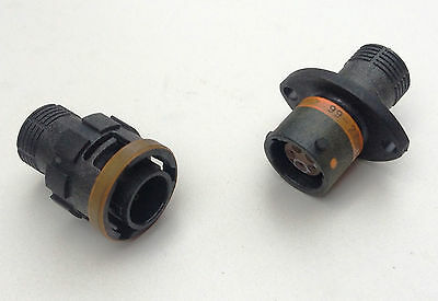 [#4] Souriau orange 5 pin bulkhead composite wiring connector plug inc VAT