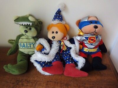 Salty Bear Merlin Wizard And Super Beanie Bears