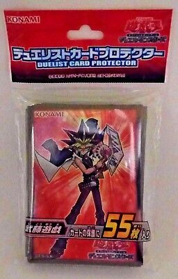 Yugioh Konami Yugi Muto Official Duelist Card Sleeve Protector x55 Japan Sealed