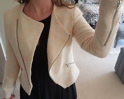 Womans 'Zara' Blazer size small with zipper details. Multi coloured.