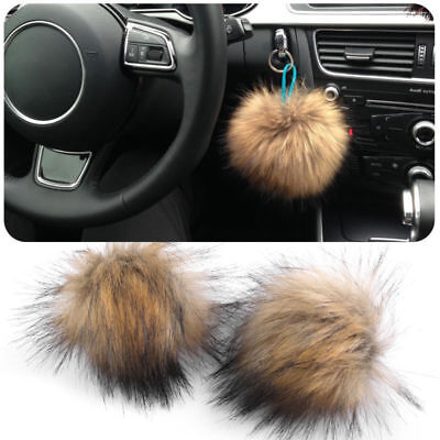 Chic Faux Raccoon Fur Hair Ball Fluffy Pompom Hat Clothing Bag Shoes Accessories
