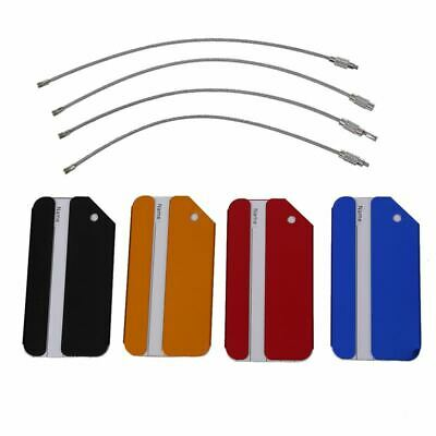 4X Aluminium Metal Travel Luggage Baggage Suitcase Address Tags Label Holde K8S7