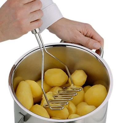 Stainless Steel Wave Shape Potato Masher Tool Sliver