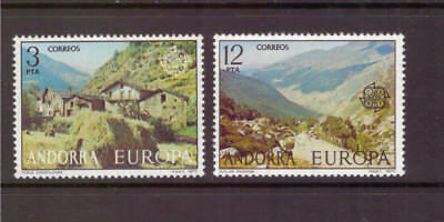 Andorra Spanish MNH 1977 EUROPA STAMPS  Landscapes set mint stamps
