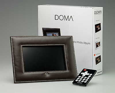 "NEW 7"" Digital Photo Frame with Quality BROWN Leather Surround USB Media Card"